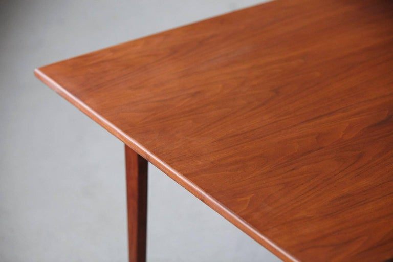 Jens Risom Floating Square Walnut Coffee Table For Sale 1