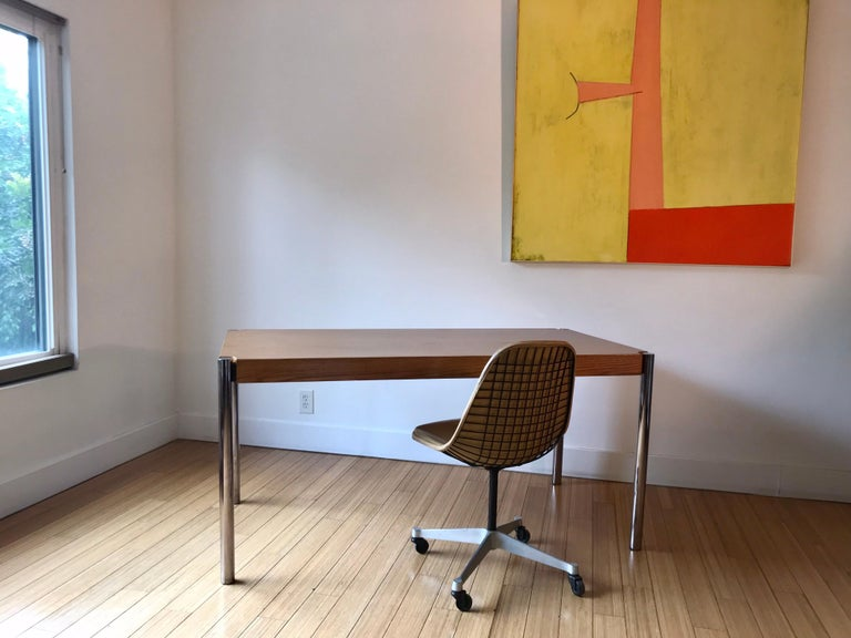 Jens Risom Folding Table, Desk or for Dining In Good Condition For Sale In Los Angeles, CA