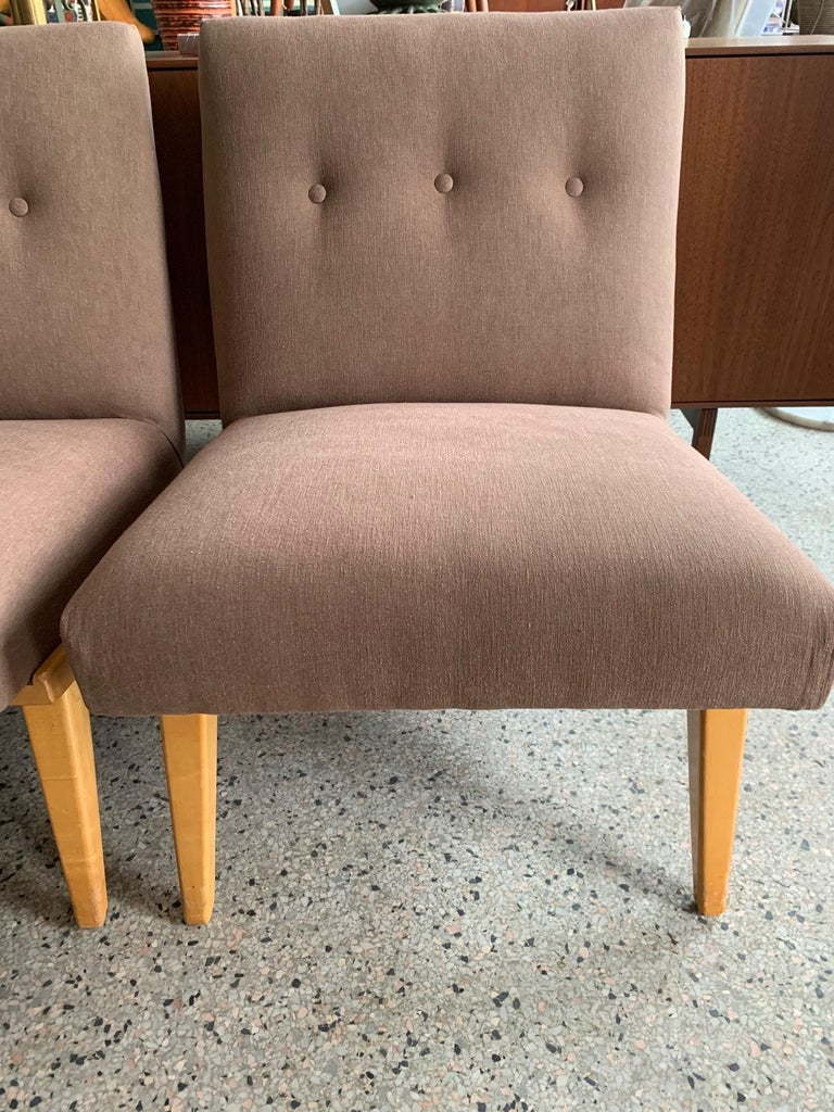 Mid-Century Modern Jens Risom for Knoll Early Slipper Chairs For Sale