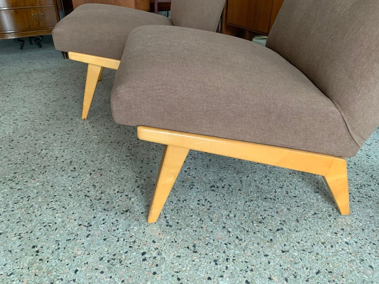 Jens Risom for Knoll Early Slipper Chairs In Good Condition For Sale In St.Petersburg, FL