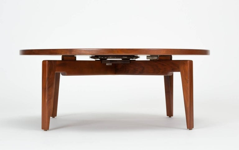 Mid-20th Century Jens Risom Lazy Susan Coffee Table For Sale