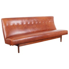 Jens Risom Leather Sofa for Risom Design