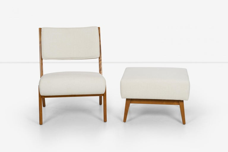Mid-20th Century Jens Risom Lounge and Ottoman For Sale