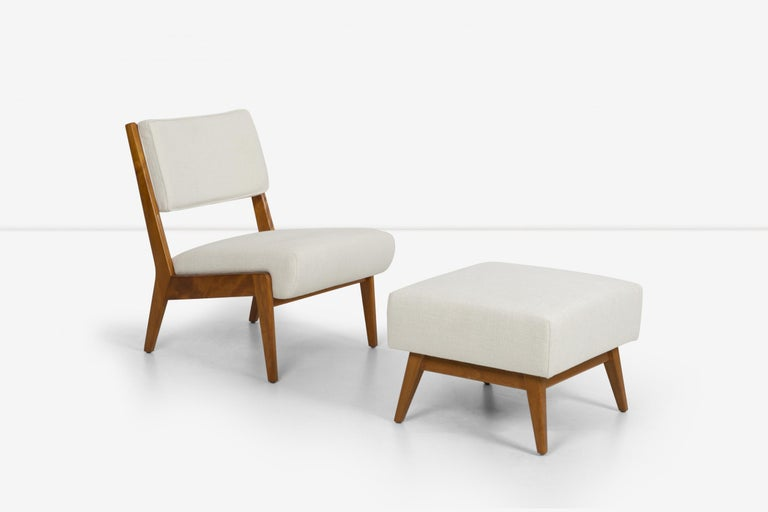 Jens Risom Lounge and Ottoman For Sale 1