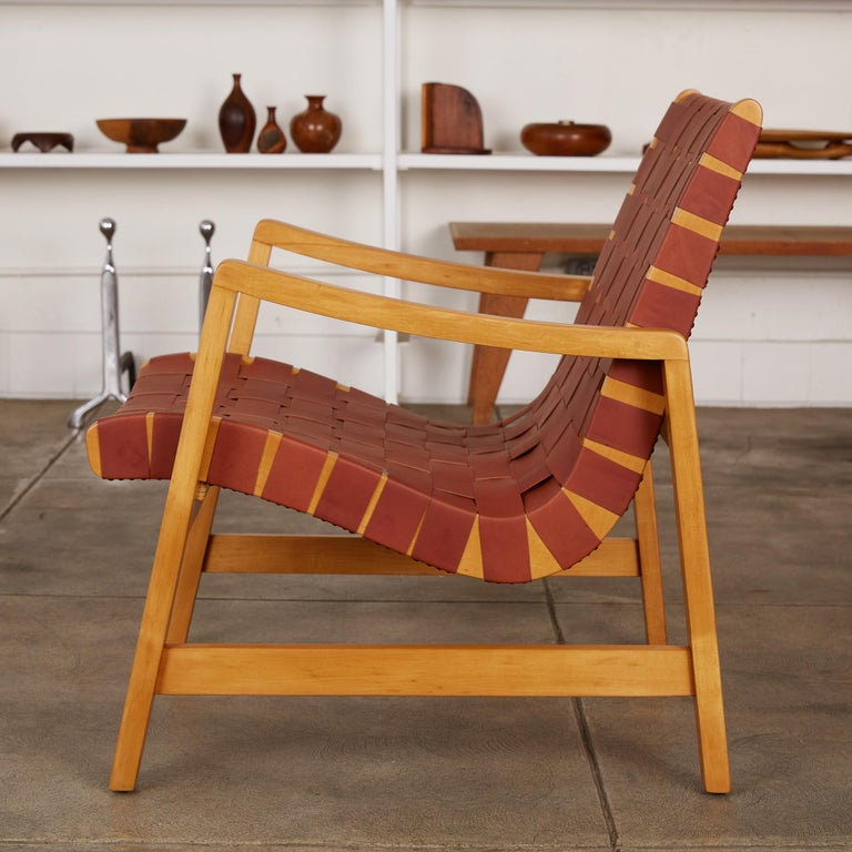 American Jens Risom Lounge Chair For Sale