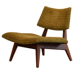 Jens Risom Lounge Chair U-416 in Oiled Walnut