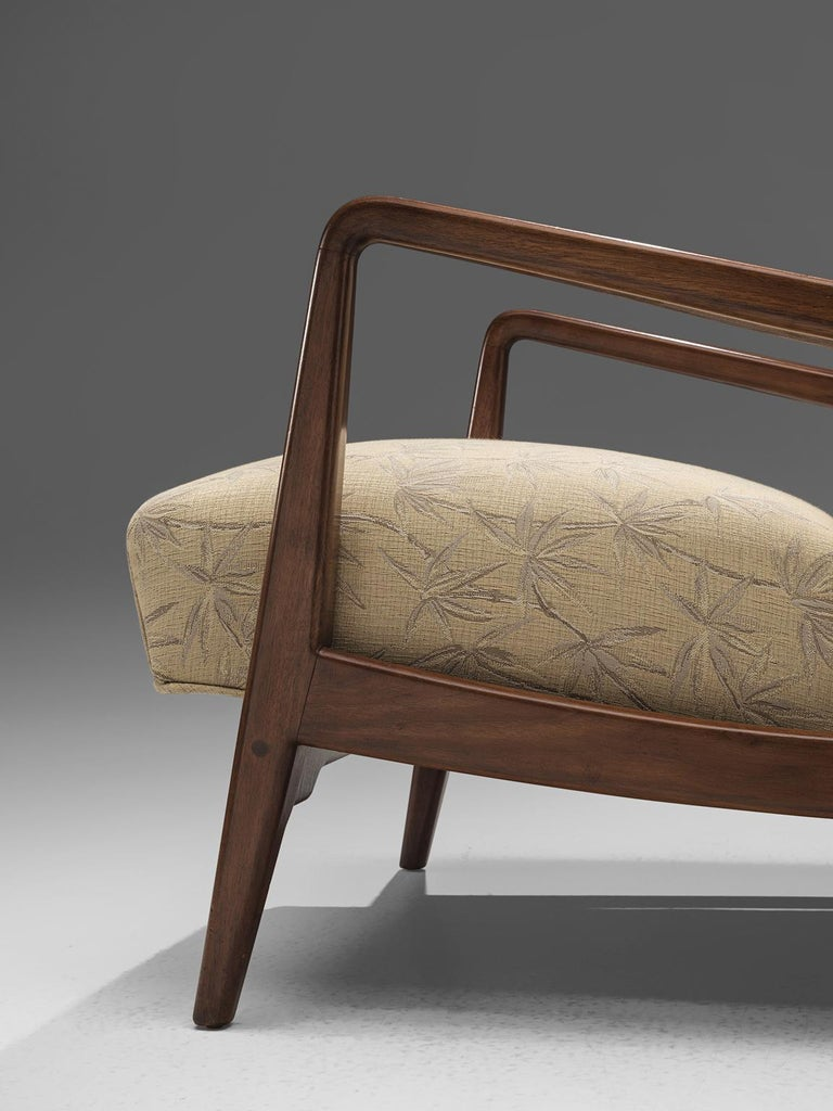 Mid-Century Modern Jens Risom Lounge Chair with Ottoman For Sale