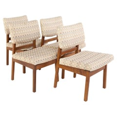 Jens Risom Mid Century Dining Side Chairs, Set of 4