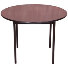Jens Risom Mid-Century Modern Black Lacquered Game Table, Newly Refinished