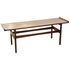 Jens Risom Mid-Century Modern Coffee Table or Low Bench