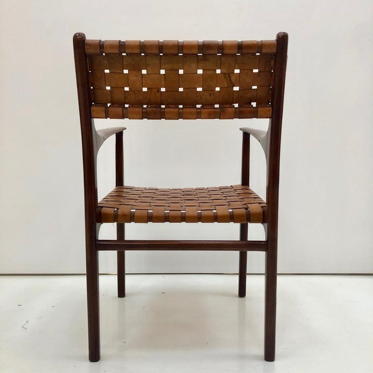 Jens Risom Mid-Century Modern Set of Eight Chairs, USA 1950s For Sale 7