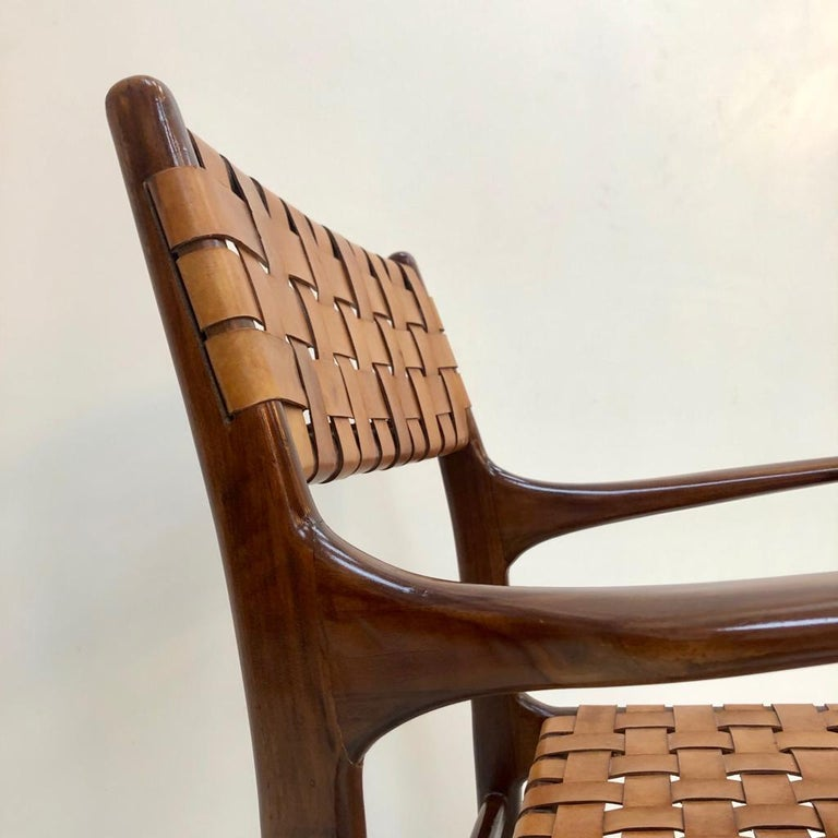 Jens Risom Mid-Century Modern Set of Eight Chairs, USA 1950s For Sale 9