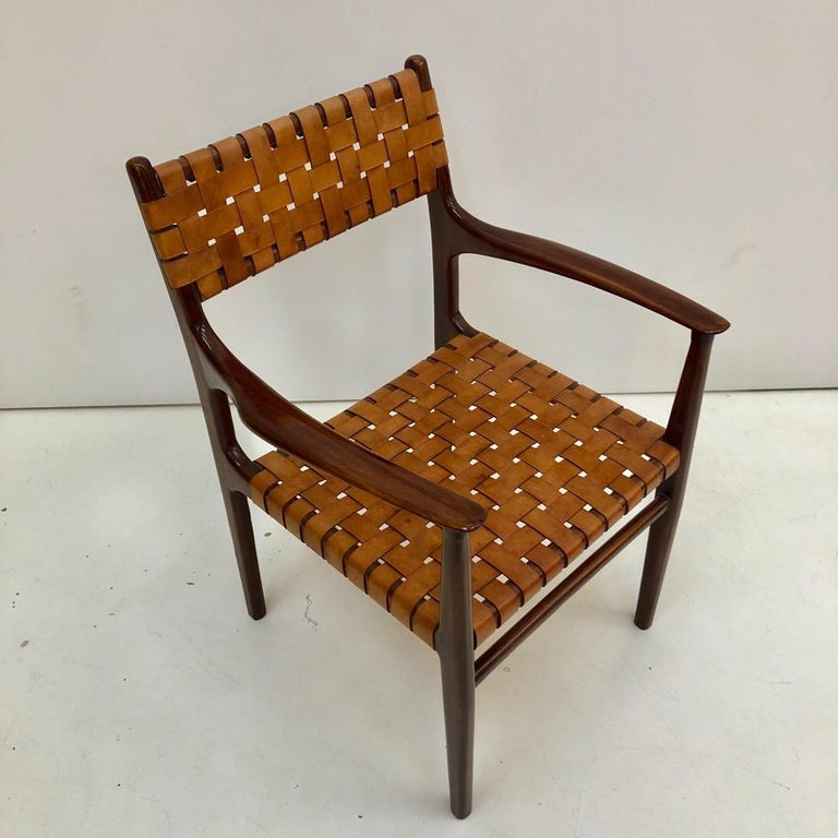 Jens Risom Mid-Century Modern Set of Eight Chairs, USA 1950s For Sale 12