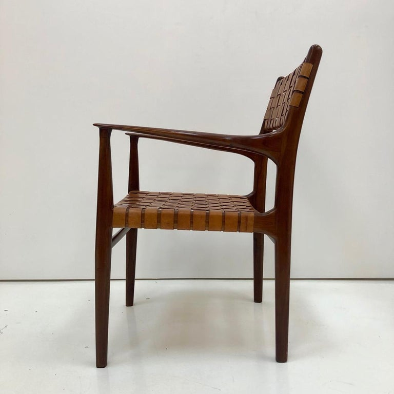 Jens Risom Mid-Century Modern Set of Eight Chairs, USA 1950s For Sale 6