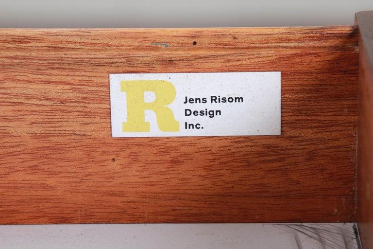 Jens Risom Mid-Century Modern Walnut Executive Desk, 1960s For Sale 7