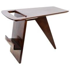 Jens Risom Mid-Century Modern Walnut Magazine Table