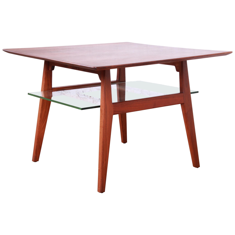 Jens Risom Mid-Century Modern Walnut Occasional Side Table, 1950s
