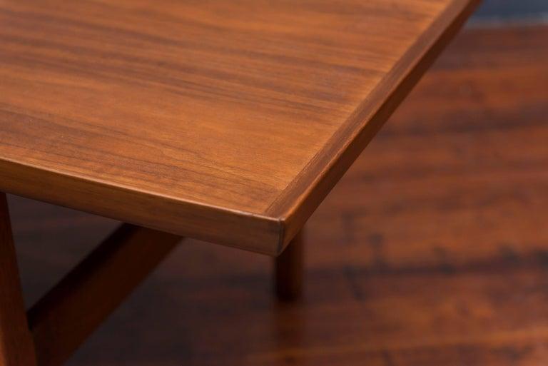 Jens Risom Mid Century Walnut Coffee Table For Sale 1