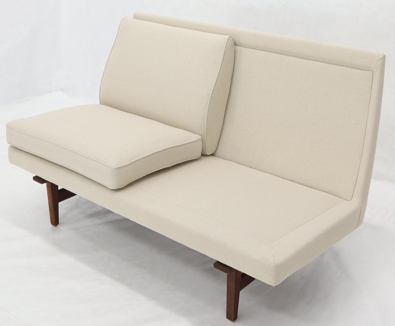 Jens Risom New Canval like Upholstery Loveseat Sofa by Jens Risom For Sale 6
