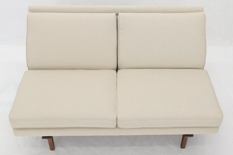 20th Century Jens Risom New Canval like Upholstery Loveseat Sofa by Jens Risom For Sale