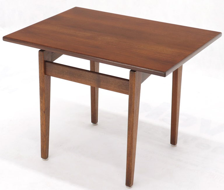 Jens Risom Occasional Lamp Coffee Side End Table Oiled Walnut For Sale 4