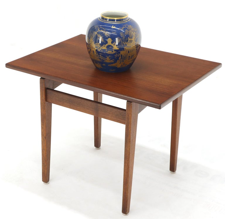 Mid-Century Modern Jens Risom Occasional Lamp Coffee Side End Table Oiled Walnut For Sale