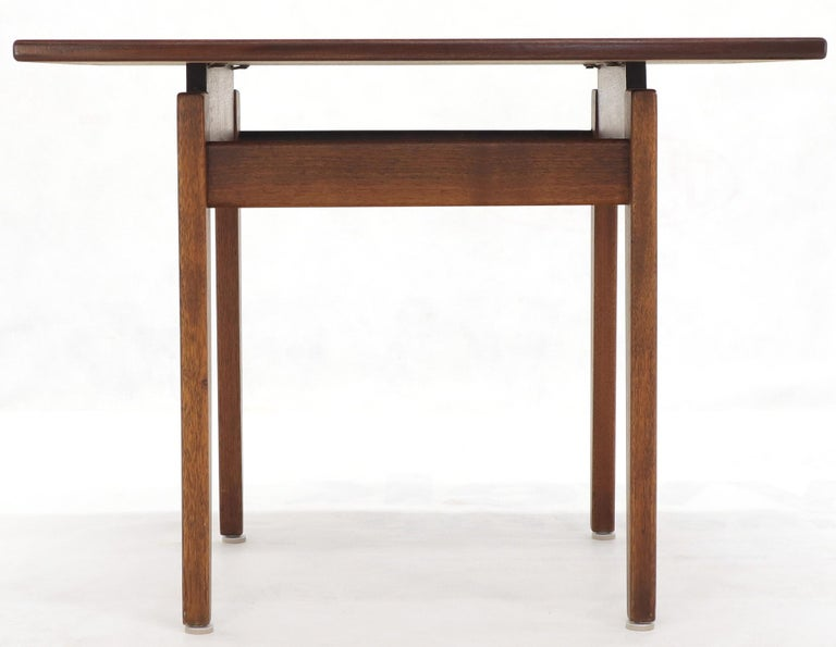Jens Risom Occasional Lamp Coffee Side End Table Oiled Walnut For Sale 2