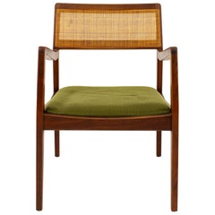 "Jens Risom ""Playboy"" Midcentury Cane Back Chair"