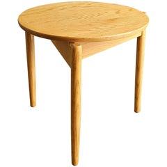 Jens Risom Round Oak Side Table