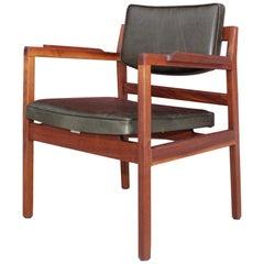 Jens Risom Sculptural Walnut Desk Chair