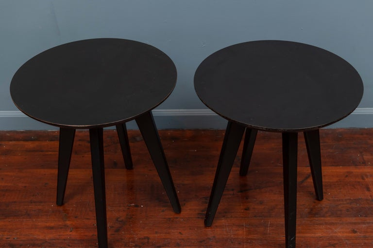Mid-Century Modern Jens Risom Side Tables for Knoll For Sale