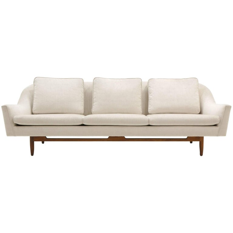 Modern Comfortable Sofa: Jens Risom Sofa, Expertly Restored, Modern, Very