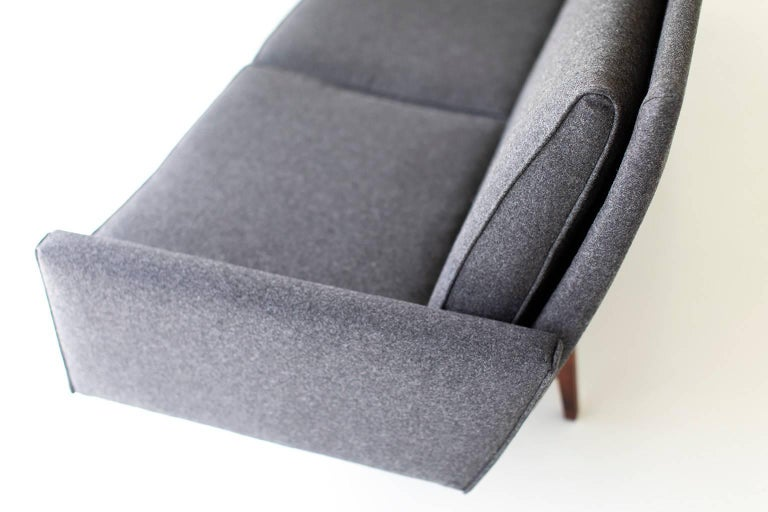 Wool Jens Risom Sofa for Risom Design Inc For Sale