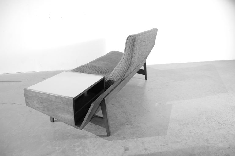 Mid-Century Modern Jens Risom Sofa with Built in Storage Table For Sale