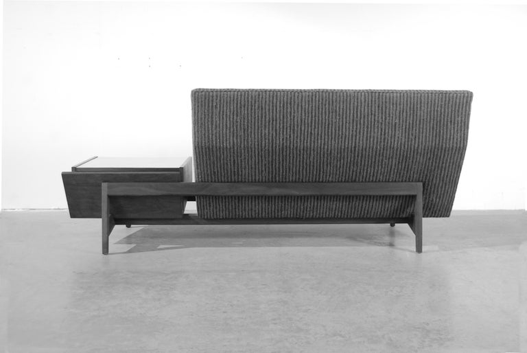20th Century Jens Risom Sofa with Built in Storage Table For Sale