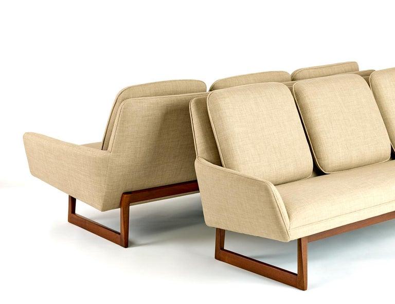 Mid-Century Modern Jens Risom Sofas Matching Pair circa 1960s