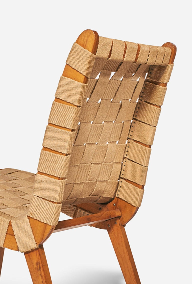 Czech Jens Risom Style Lounge Chair, 1960s For Sale