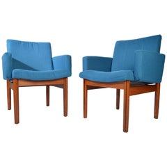 Jens Risom Style Teak Armchairs by John Stuart Furniture, circa 1950