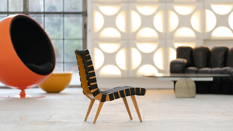 Mid-Century Modern Jens Risom, Vostra Easy Lounge Chair, Design 1941 for Walter Knoll, Germany For Sale