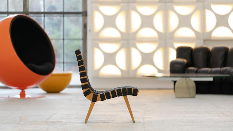 Jens Risom, Vostra Easy Lounge Chair, Design 1941 for Walter Knoll, Germany In Good Condition For Sale In Munster, NRW