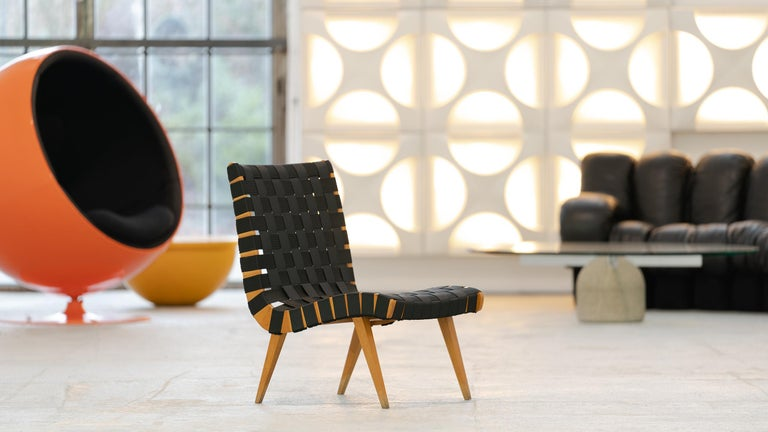 Beech Jens Risom, Vostra Easy Lounge Chair, Design 1941 for Walter Knoll, Germany For Sale