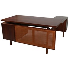 Jens Risom Walnut & Cane Desk