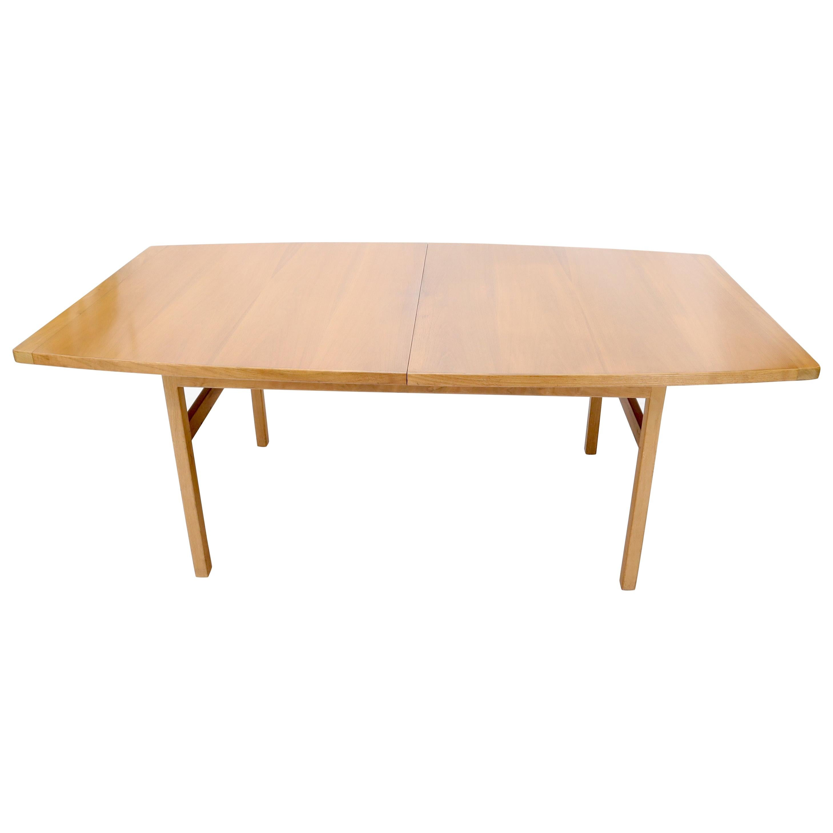 Jens Risom Walnut Gate Leg Dining Table with Extensions Boards