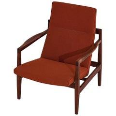 Jens Risom Walnut Lounge Chair, 1960