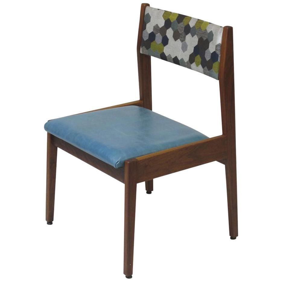 Jens Risom Walnut Side Chair