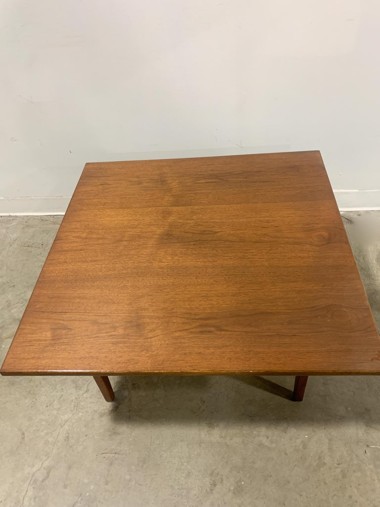 Jens Risom Walnut Square Coffee Table For Sale 4