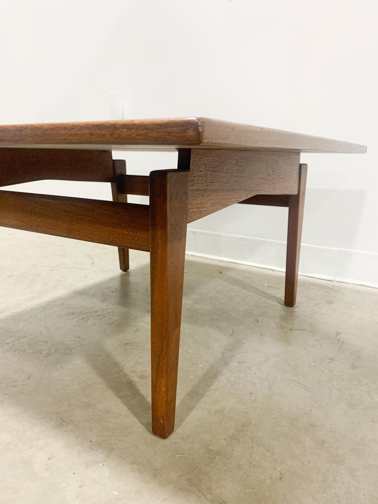 Jens Risom Walnut Square Coffee Table For Sale 3
