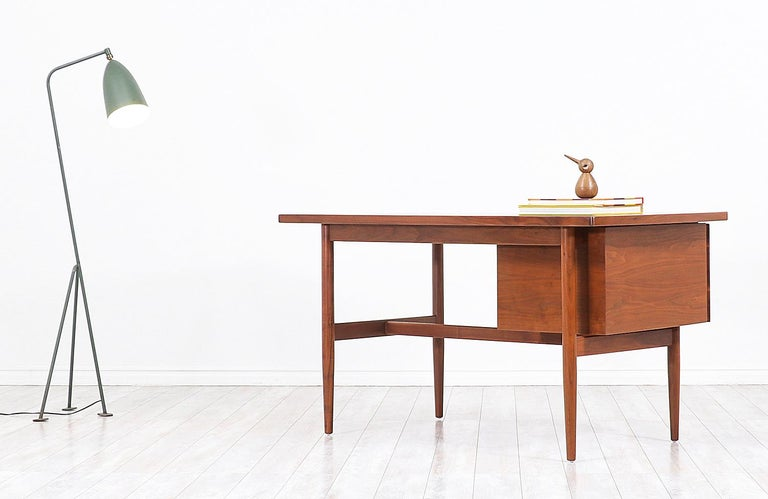 Mid-20th Century Jens Risom Walnut Writing Desk For Sale