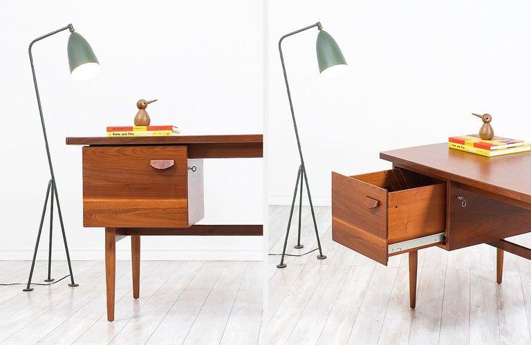 Jens Risom Walnut Writing Desk For Sale 2