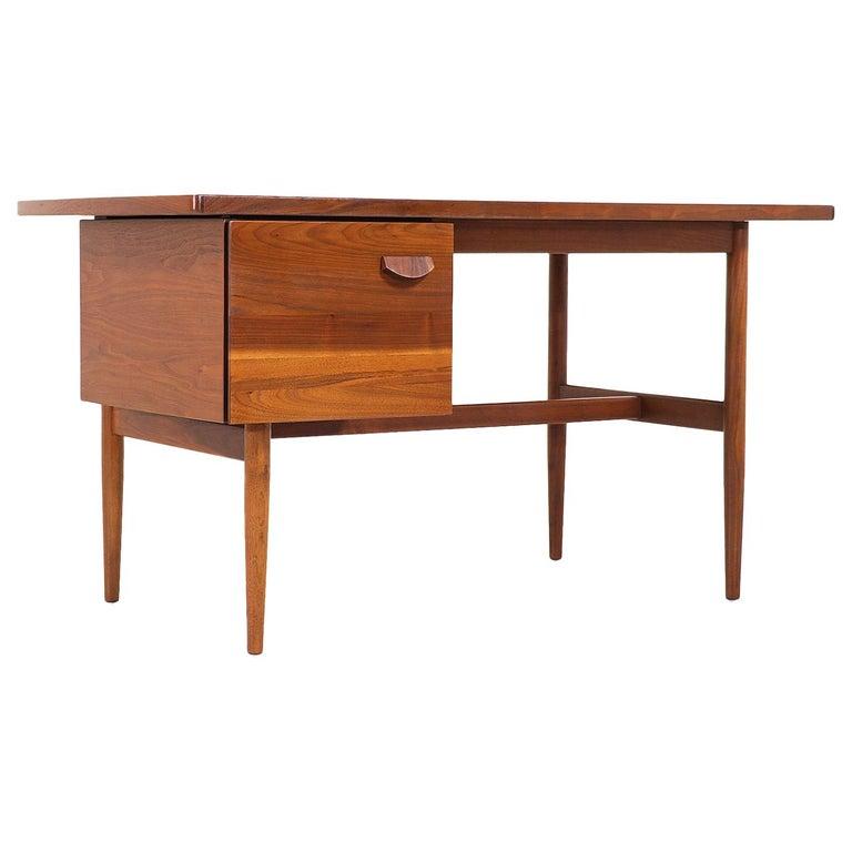 Jens Risom Walnut Writing Desk For Sale